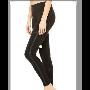 ALO Talia Leggings NWT - Blk/Blk Gloss - Large